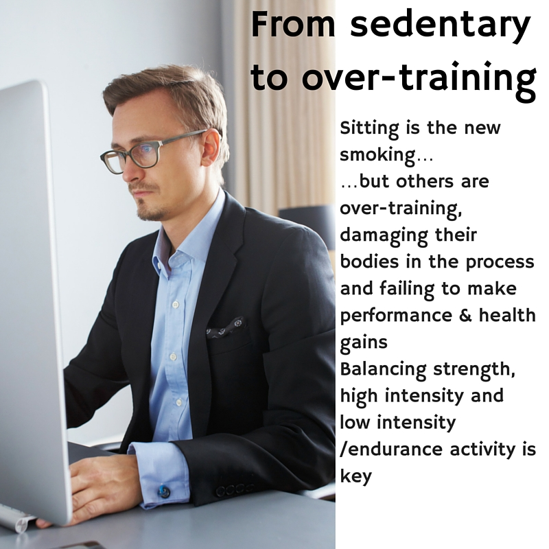 From sedentary to over-training