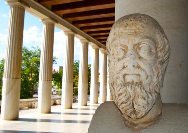 Plato statue in Athens