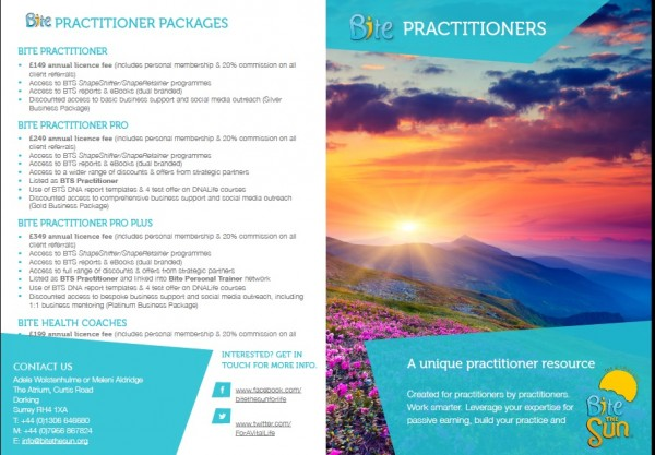 Bite Practitioner Packages prices