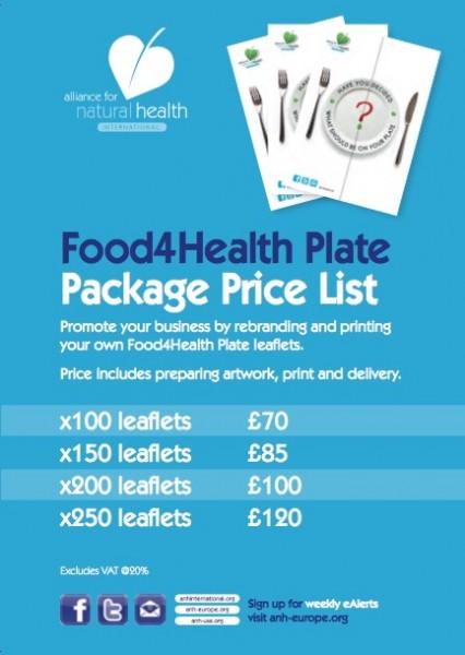 Food4Health Plate Package List
